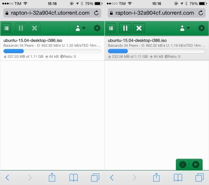 Gerenciando os downloads (Foto: Reprodução/Helito Bijora)