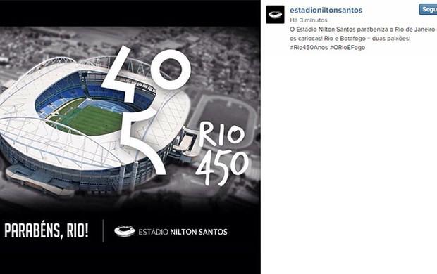 Estadio Nilton Santos Engenhao homenagem ao Rio no Instagram
