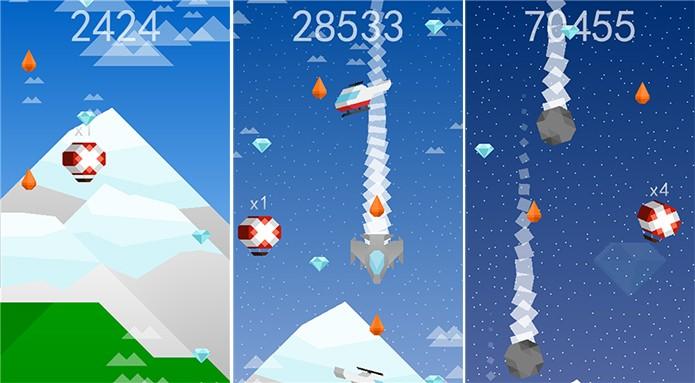 Reach for the Sky é um game com gráficos retrôs e ótima trilha sonora (Foto: Divulgação/Windows Phone Store)