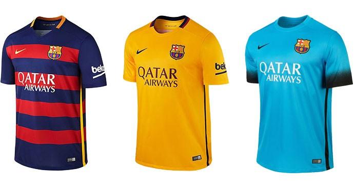 Montagem Camisas Barcelona Champions