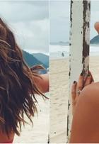 Mariana Goldfarb fala sobre cuidados com o cabelo: 'Óleo de coco na praia'