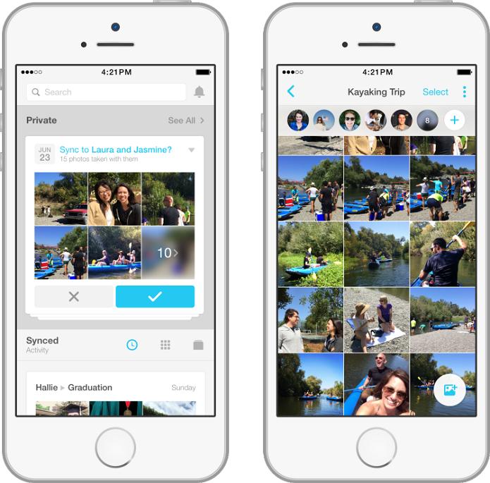 Moments é o novo app do Facebook que permite compartilhar fotos de momentos da vida (Foto: Reprodução/newsroom)
