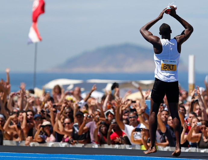 Usain bolt copacabana corrida (Foto: Agência Reuters)