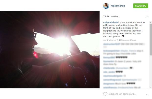 Lea Michelle (Foto: Instagram / Reprodução)