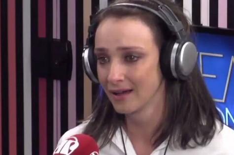 Sabrina Parlatore em entrevista à Rádio Jovem Pan (Foto: Reprodução)