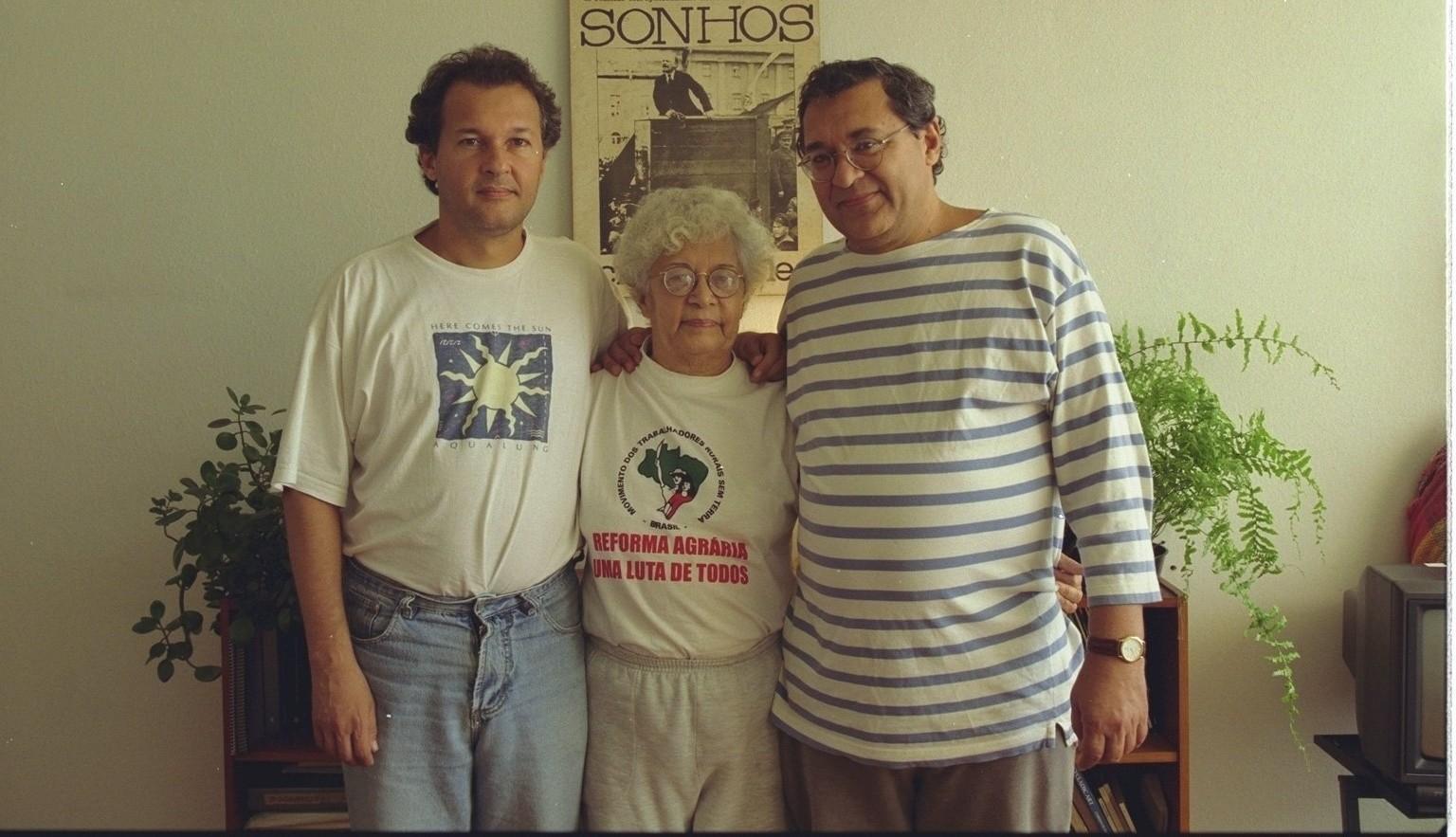 César, Iramaya e Cid Benjamin