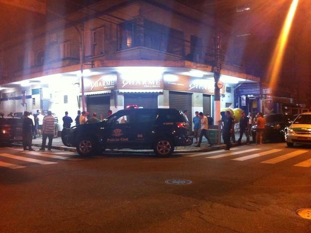 Trio matou policial em padaria em Santos (Foto: Renan Fiuza/TV Tribuna)
