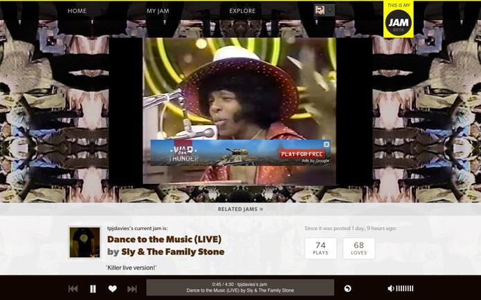 Também é possível dar like, ver vídeos das músicas, comentar e seguir usuários (Foto: Reprodução/André Sugai)
