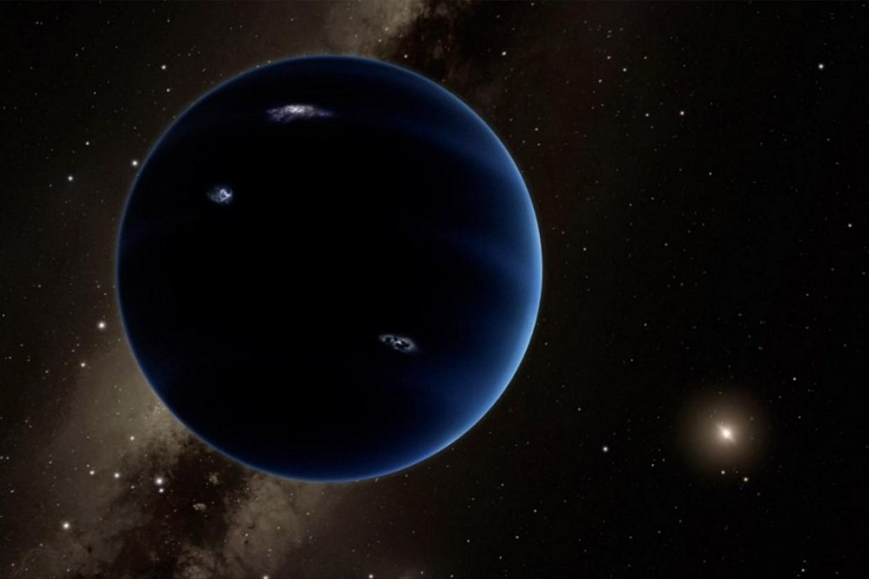 """Uma representação artística do """"novo"""" planeta (Foto: CalTech / Divulgação )"""