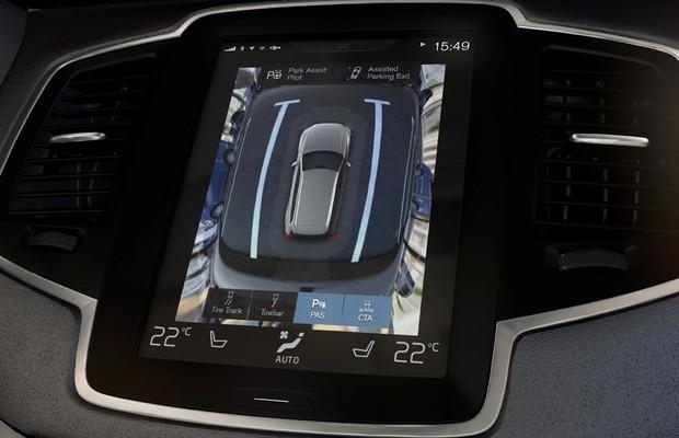 Sistema de câmeras 360 graus do Volvo XC90 (Foto: Divulgação)