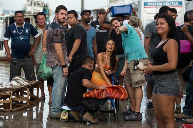 Isis Valverde nas gravações de A Força do Querer, próxima novela das nove da Globo (Foto: GLOBO / Estevam Avellar)
