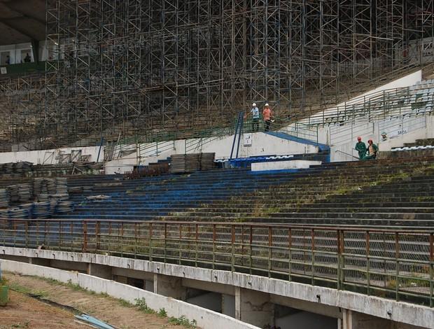 estádio amigão em obras csp x sport campina