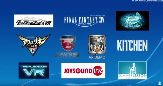 Alguns dos jogos do PlayStation VR (Foto: Divulgação/Sony)