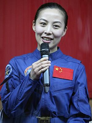 Wang Yaping fala em coletiva de imprensa (Foto: Reuters)