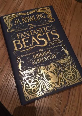 Edição impressa do roteiro de 'Animais fantásticos e onde habitam' (Foto: Reprodução/Twitter/J.K. Rowling)