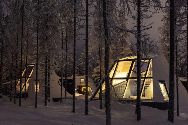 Hotel tem estrutura pensada para ver a aurora boreal (Foto: Divulgação)