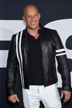 Vin Diesel em première de filme em Nova York, nos Estados Unidos (Foto: Dimitrios Kambouris/ Getty Images/ AFP)