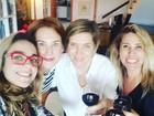 Andréia Sorvetão se reúne com antigas paquitas
