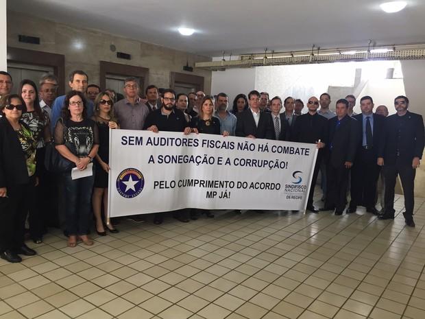 Paralisação Receita Federal Recife (Foto: Luiz Carlos Queiroz/Sindicato dos Auditores Fiscais)