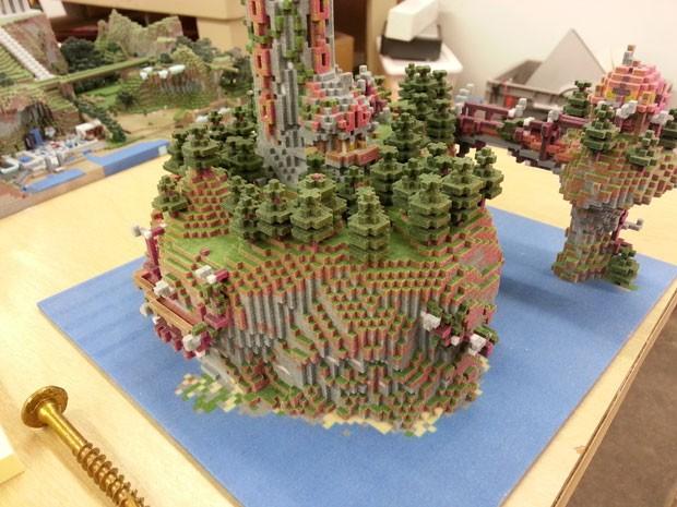 Criações de 'Minecraft' chegam ao mundo real com impressoras 3D (Foto: Divulgação/Mr Eric Haines/Mineways)