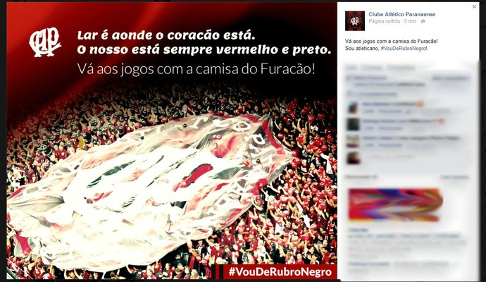 Atlético-PR (Foto: Site oficial do Atlético-PR/Reprodução)