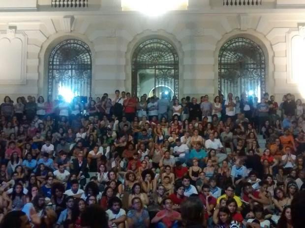 Ato de juristas pernambucanos em defesa da democracia (Foto: Reprodução/WhatsApp)