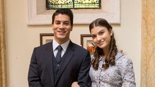 Giovanna Grigio e Arthur Aguiar se emocionam com final de Gerusa e Osório em 'Êta Mundo Bom!'