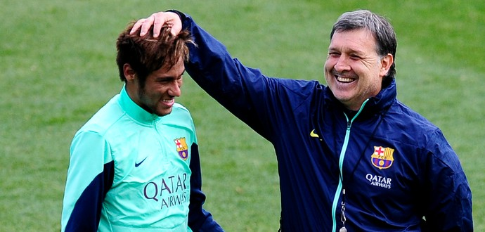 Tata Martino Neymar Barcelona (Foto: AP)