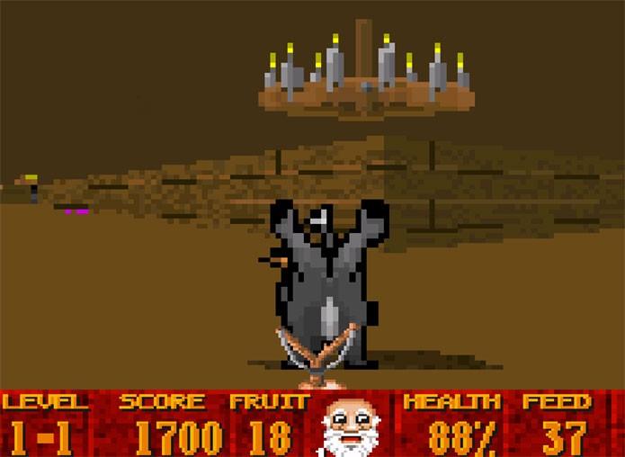 Super 3D Noahs Ark misturava Wolfenstein com a Bíblia (Foto: Divulgação)