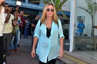 Maria Zilda no velório de Claudio Marzo (Foto: Roberto Teixeira / EGO)