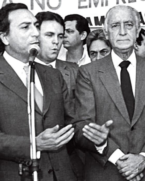 Temer como secretário de segurança de Franco Montoro (Foto: ASCOM- VPR)