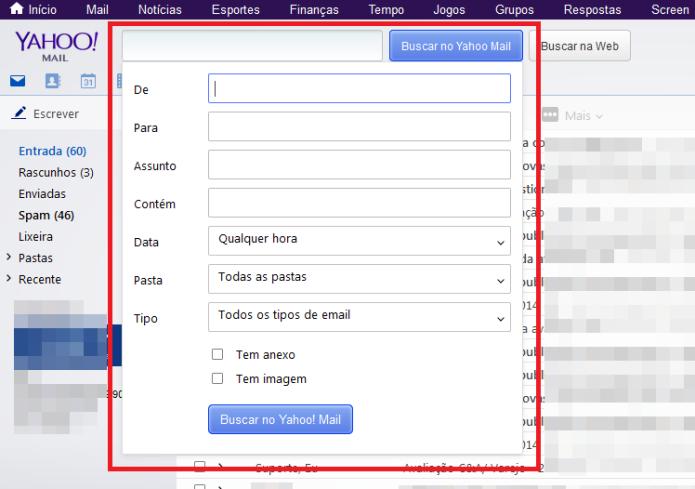 A busca avançada do Yahoo possui diversos filtros (Foto: Reprodução/Lívia Dâmaso)