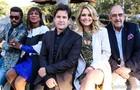 Lázaro, Luís, Murilo, Cacau e Miele juntos (Foto: Aline Kras/TV Globo)