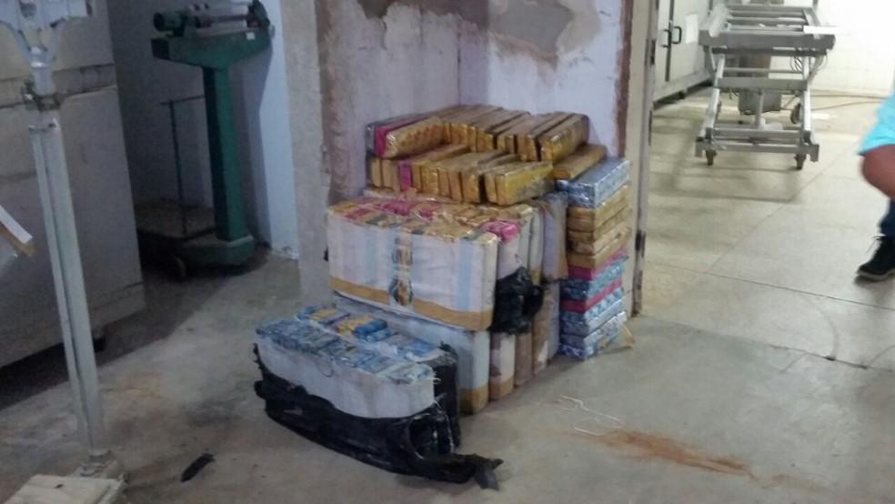 Droga estava enterrada em uma casa na zona rural de Upanema (Foto: Divulgação/Polícia Civil do RN)