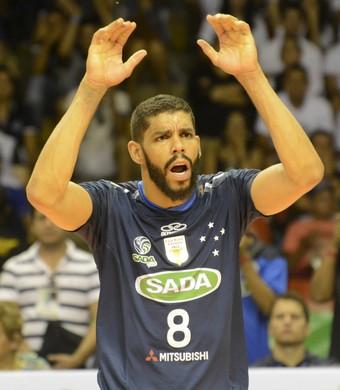 vôlei Wallace Cruzeiro (Foto: Alexandre Arruda / CBV)