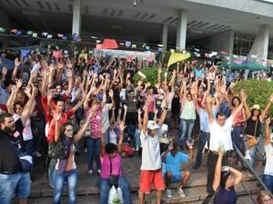 Greve de servidores municipais começou há 15 dias, em Campinas (Foto: Gabriel Nunes / STMC)