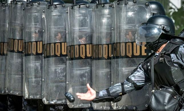 Batalhão de choque, polícia paranaense  (Foto: Gazeta do Povo)