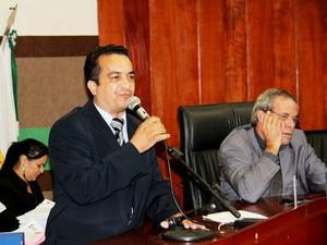 O vereador Marcrean dos Santos (PRTB), de Cuiabá. (Foto: Luiz Alves / Secom-Câmara)