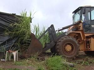 Reintegração Posse Uberaba (Foto: Reprodução / TV Integração)