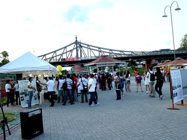 Evento recebeu estudantes e público em geral para diversas atividades (Foto: Marcos Dantas / G1 AM)