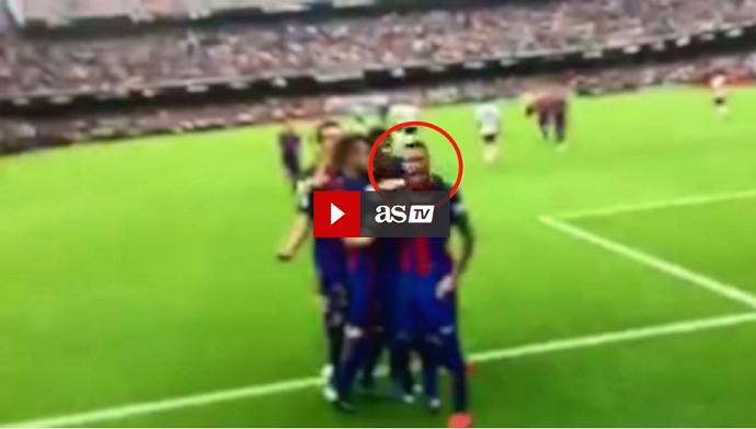 BLOG: Vídeo mostra Neymar provocando torcida do Valencia após gol de Messi