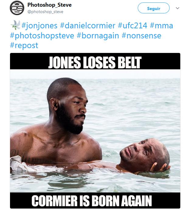 Zoações doping Jon Jones (Foto: Reprodução)