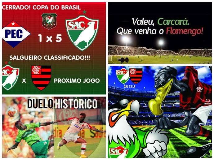 Torcida do Salgueiro comemora classificação na Copa do Brasil e já pensa no Flamengo (Foto: Reprodução/Facebook)