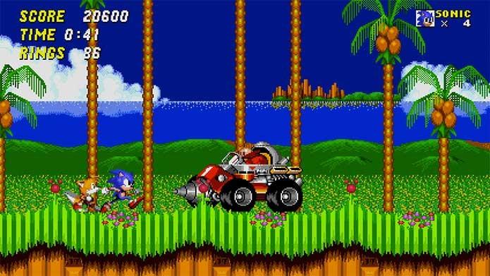 Foi o Blast Processing que deixou Sonic 2 tão bonito (Foto: Divulgação/Sega)