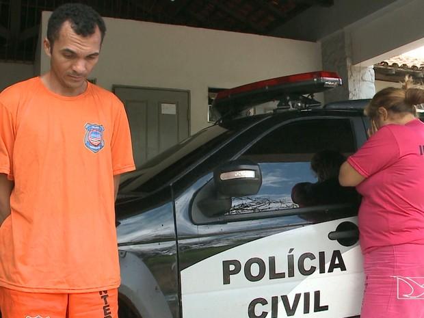 Ana Paula dos Santos Marques e Ricardo da Silva Rocha foram encaminhados para o Instituto Médico Legal (IML), na capital, onde realizaram exames de corpo de delito (Foto: Reprodução/TV Mirante)