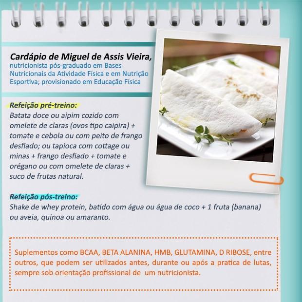 Miguel Vieira nutricionista dieta lutadoras (Foto: Divulgao/GNT)