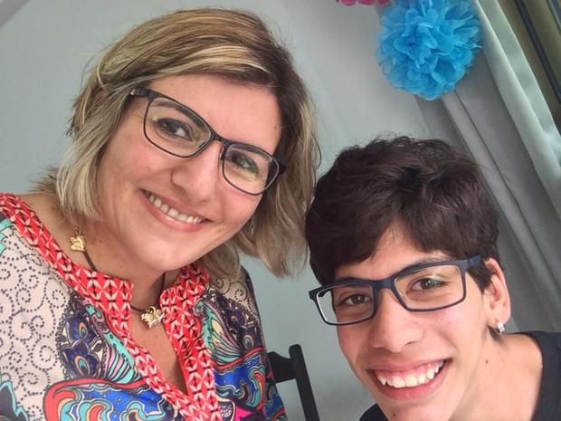 Mônica diz que filho quer entrar em universidade (Foto: Arquivo Pessoal/Mônica Nunes)