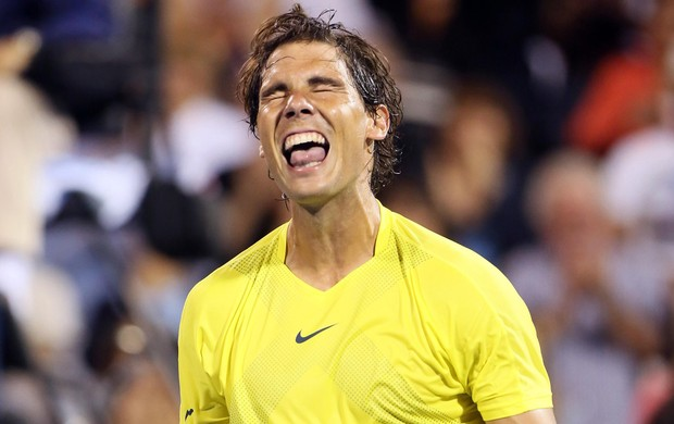 tenis - Nadal comemora vitória sobre Djokovic em Montreal (Foto: Reuters)