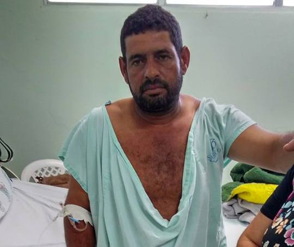 Ronaldo da Lagoinha, como é conhecido, também ficou ferido e foi internado (Foto: Arquivo Pessoal)