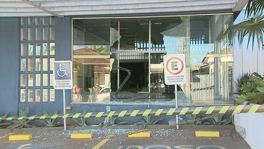 Morador flagra suspeito com fuzil durante ataque ao Banco do Brasil em Nuporanga